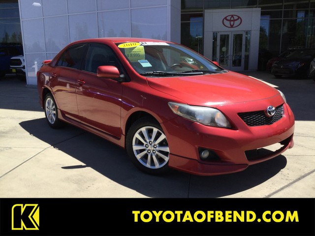 2010 Toyota Corolla S >> Pre Owned 2010 Toyota Corolla S Sedan In Bend X37121a Kendall